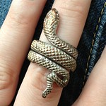 snake ring from yard sale in Seaford