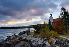Eagle Harbor Lighthouse Sunrise,Eagle Harbor, Michigan by Michigan Nut