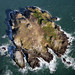 Aerial photo of Grassholm Island 2011 by Royal Commission