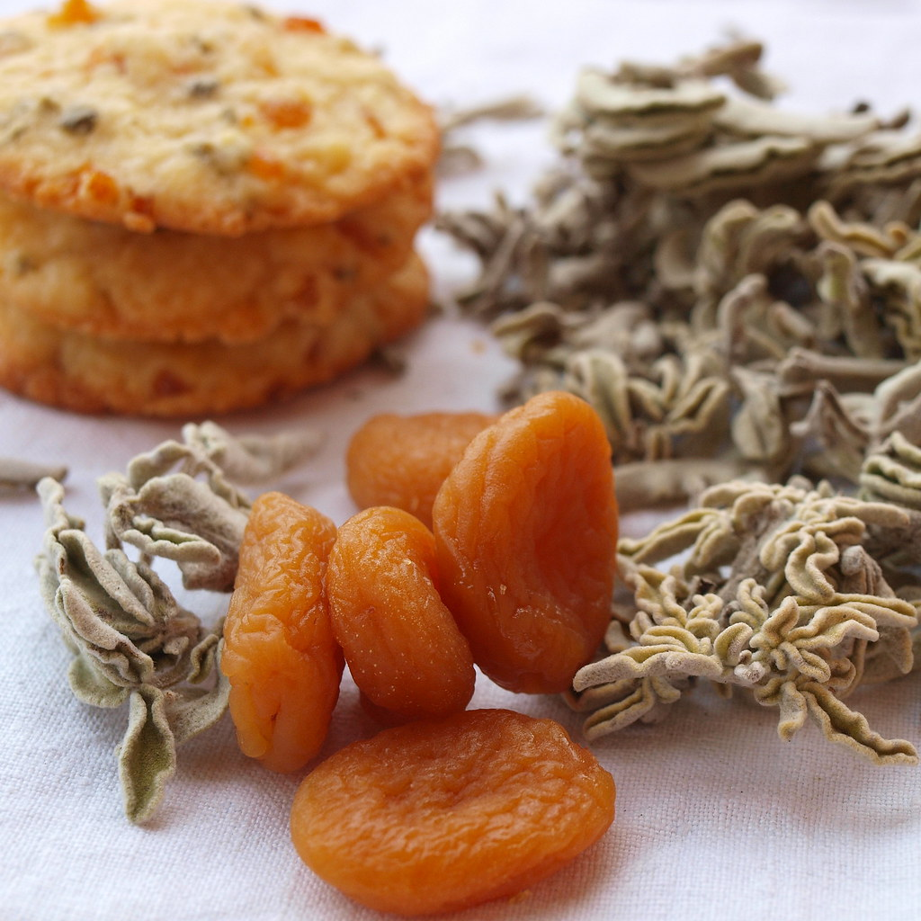 Aprikosen, Salbei, Cookies
