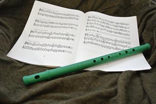 Alto straight folk flute, ABS plastic