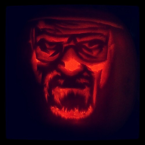 Breaking Bad's Walter White (Bryan Cranston) Jack O' Lantern