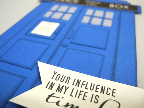 Tardis card (detail)