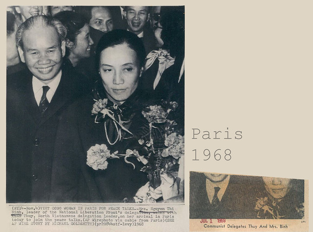 1968 VIET CONG WOMAN IN PARIS FOR PEACE TALKS