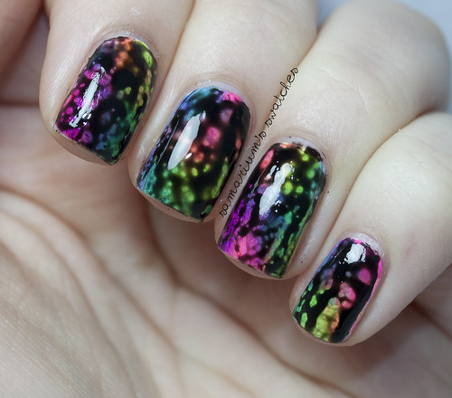 Rainbow Sponge-icure Mani with OPI Black Spotted (4)