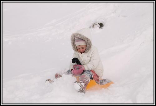 Enjoy some winter sledging in Samoens
