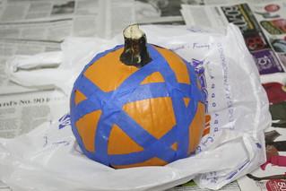 Halloween pumpkin: Step 2