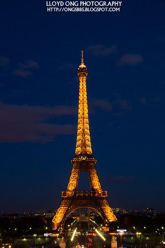 Eiffel Tower Night Shot