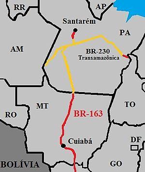 BR163CuiabáSantarém