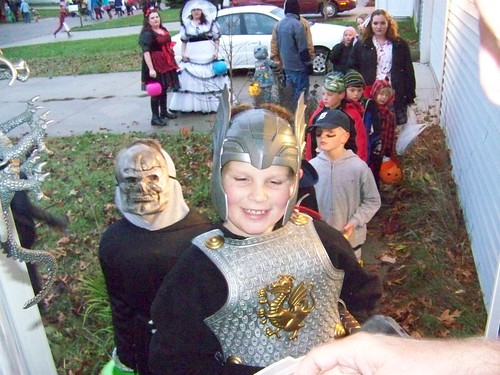 2012 The dragonslayer conquers the doorknocker and wins candy