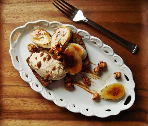 Plated Dessert Banana Bread