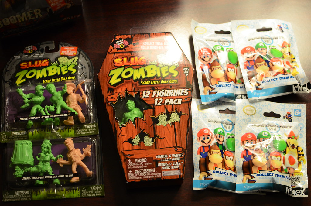 Series 3 SLUG Zombies and more K'NEX Mario Kart figures