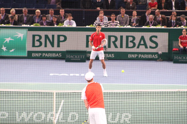 Sam Querrey and Novak Djokovic