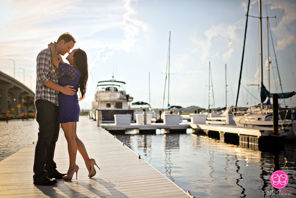 Lana and Nathan | Jacksonville Beach Marina Engagement | Jacksonville Engagement Photographer