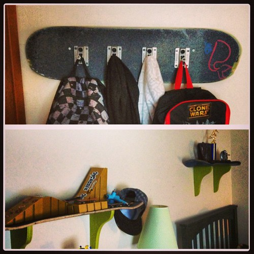 Some new skateboard decor for my skater boy.