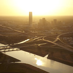 Downtown Oklahoma City and River at Sunset