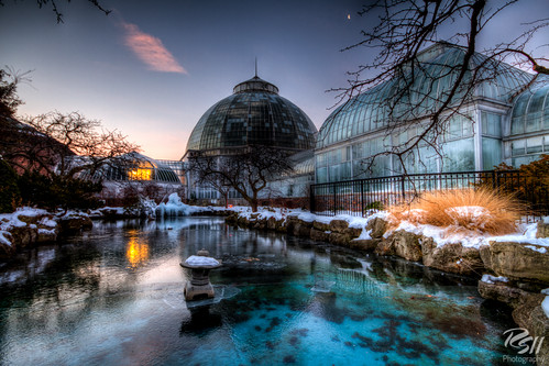 morning winter tree water mi sunrise detroit conservatory hdr belleisle rsii