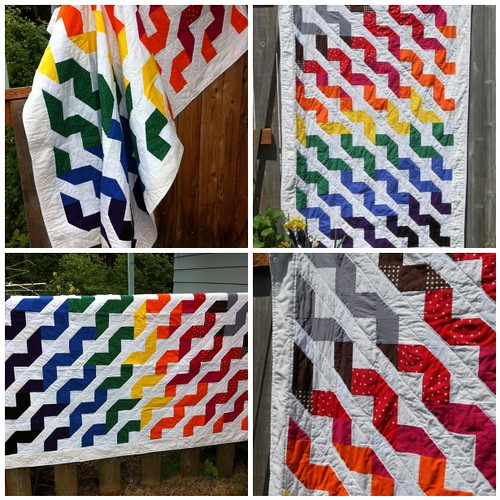 Ribbon Rainbow Quilt