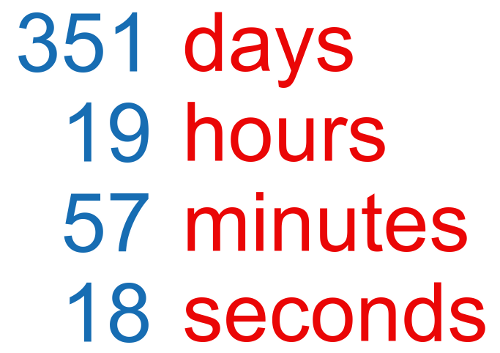 A countdown timer showing 351 days, 19 hours, until retirement