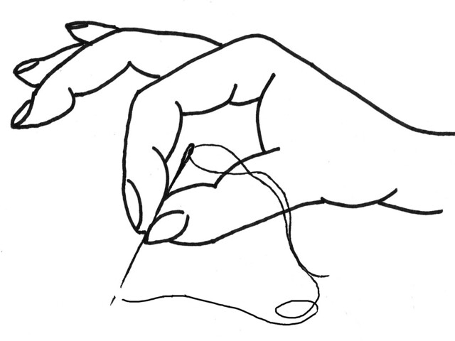 stitching mudra - understanding drawing by Sherri Lynn Wood