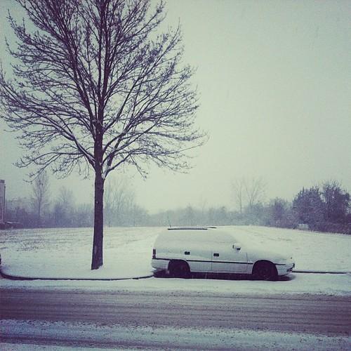 stay safe snowy roads car