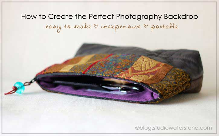 studio waterstone - photography backdrop diy