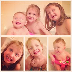 #bathtime with #aidkaid #sawyergrace #millerpaige  #howtowastetimetilbed