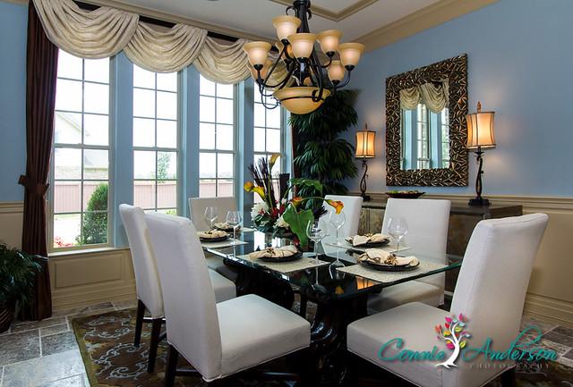 David weekley model home dining room flickr photo sharing for Model home dining room