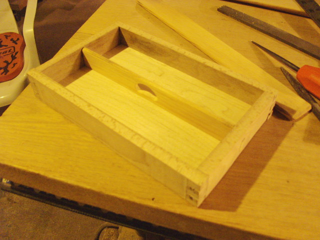 Bottom tray assembled...