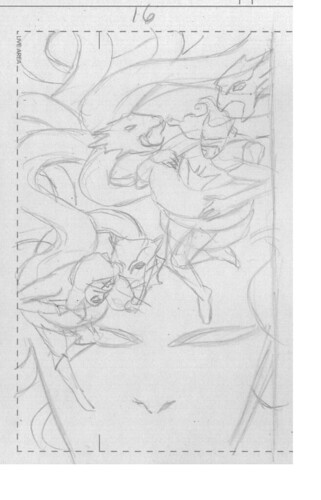 Batwoman 16 cover rough