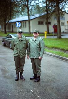 West Germany   -   Crailsheim   -   McKee Barracks   -   Tom Walton & Sargent Major Beammer   -   3 July 1980