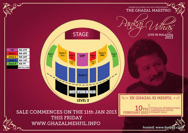 Pankaj Udhas Ticket Plan