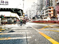 Cyclist in Hong Kong