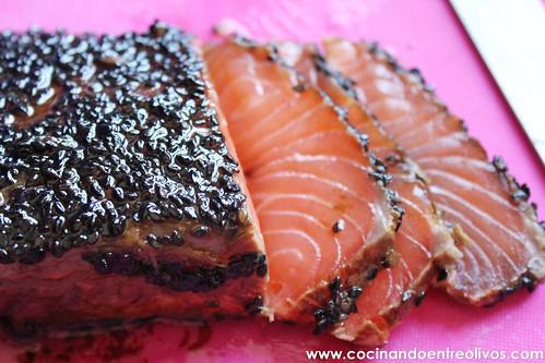 Tataki de salmon en nido de nabo daikon (18)