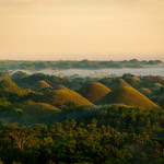 Misty morning at the Chocolate Hills of Bohol