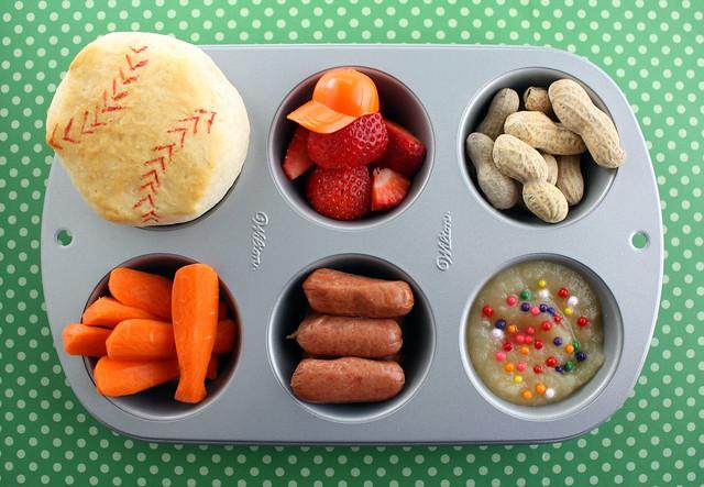 Muffin Tin Meal: Baseball!