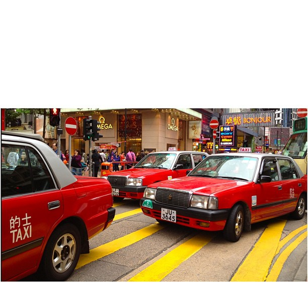 Red taxis. #hongkong #hk #taxi #cab #red