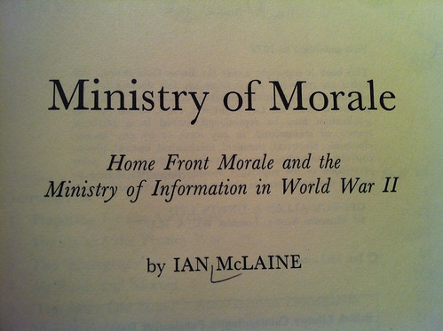 Ministry of Morale by Ian McLaine