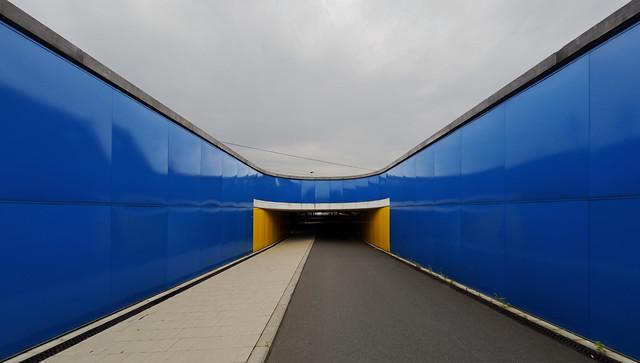 Train station underpass in Drongen, Belgium