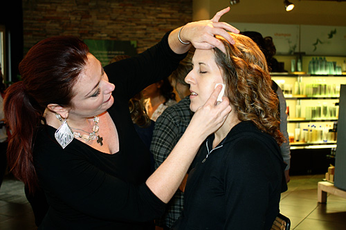 Getting-makeup-put-on