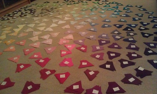 Eternity Quilt: laying and labelling