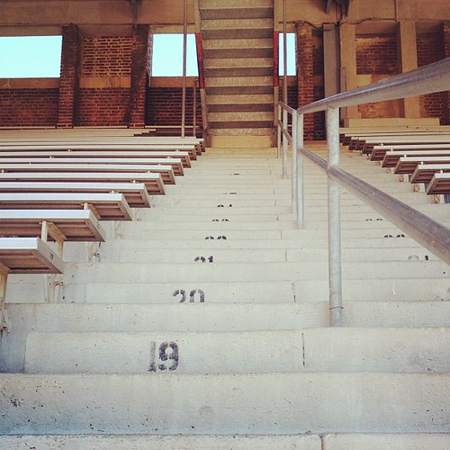 The stairs at Franklin field.