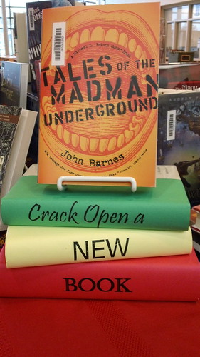 Crack Open a New Book library display