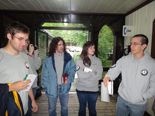 AmeriCorps Interpreters during orientation at Douthat State Park.