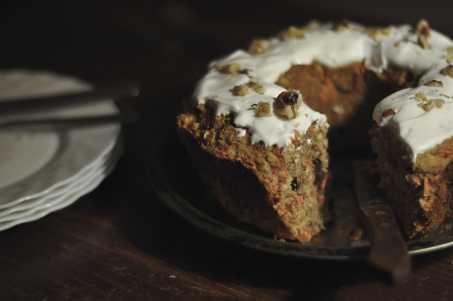 carrot cake minus one chunky slice