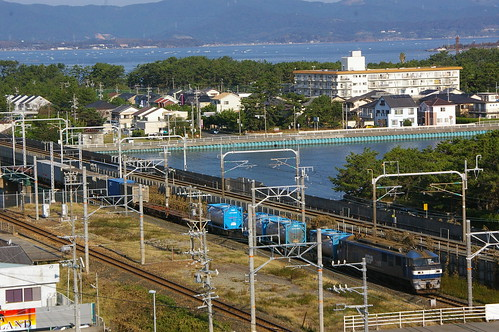 JR Freight EF210 series in Bentenjima, Hamamatsu, Shizuoka, Japan /Oct 8, 2012