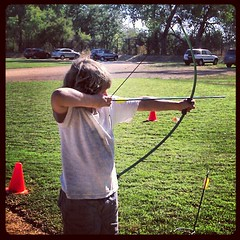 Lucas shooting #harvestfaire #waldorf #archery #son