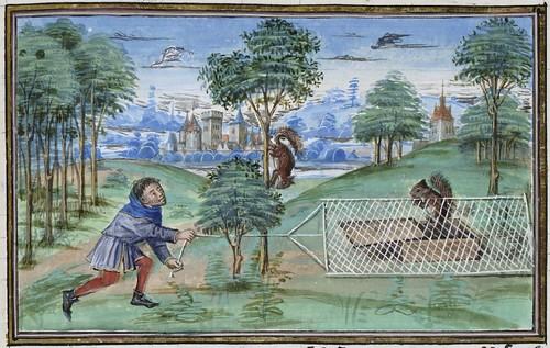 15th century illuminated manuscript miniature: Henri de Ferrières, Les Livres du roy Modus et de la royne Ratio 124