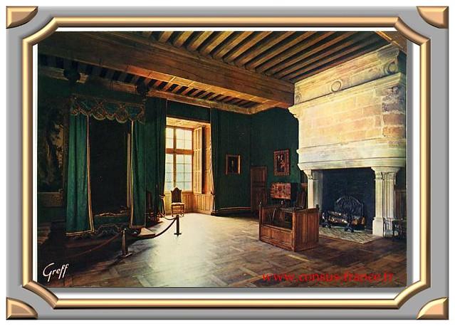 CHATEAU D' AZAY- LE -RIDEAU XVIè siècle. (Indre-&-Loire - 37) la Chambre verte-70-150