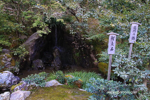 Kinkaku-ji 金閣寺 Golden Pavilion small waterfall